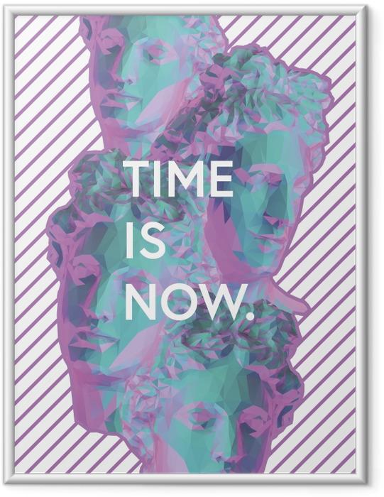Ingelijste Poster Time is now -