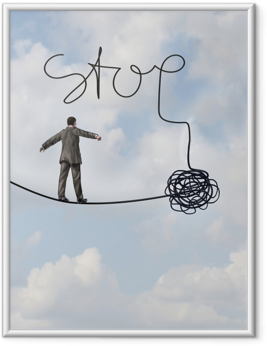 Póster Enmarcado Stop -