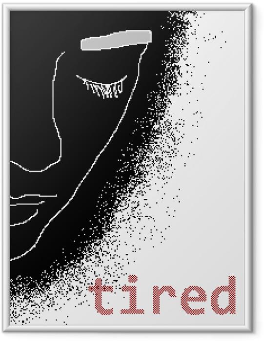Ingelijste Poster Tired -