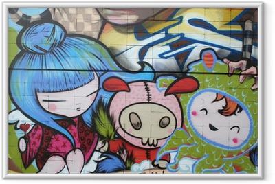Ingelijste Poster Dibujo manga. graffiti arte urbano