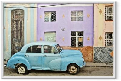 Poster i Ram Kuba, La Habana, uppdelade Veteranbil