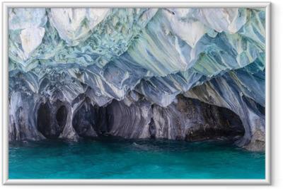 Çerçeveli Poster Göl General Carrera mermer Mağaraları (Şili)