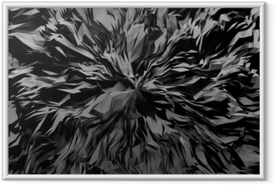 3D abstract background Framed Poster
