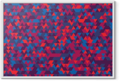 Abstract background of the triangles. The gradation of Violet. Violet hues. Framed Poster