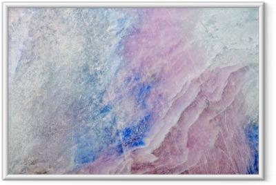 Póster com Moldura Textura da pedra charoite colorido