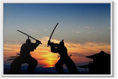 Gerahmtes Poster Samurai