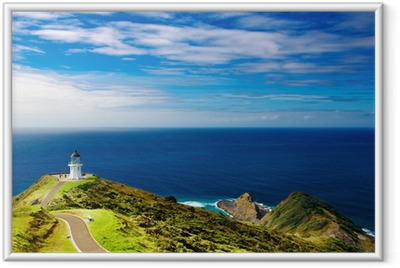 Plakat w ramie Cape Reinga Lighthouse, Nowa Zelandia