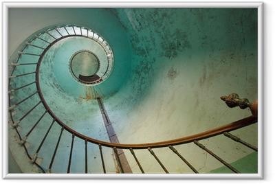 Majakka portaikko Kehystetty juliste