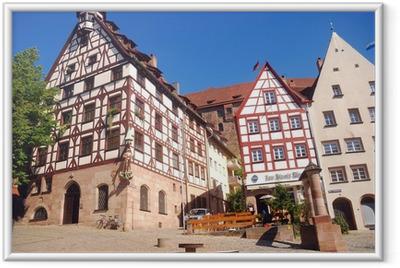 Gerahmtes Poster Die Altstadt, Nürnberg, Deutschland