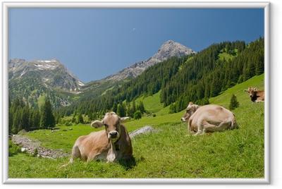 Poster en cadre Vaches heureuses - Agriculture
