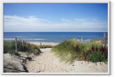 Ingelijste Poster Steegje naar het strand