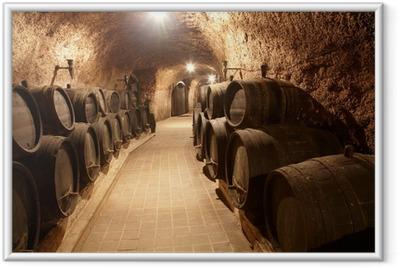 Corridor in winery Framed Poster