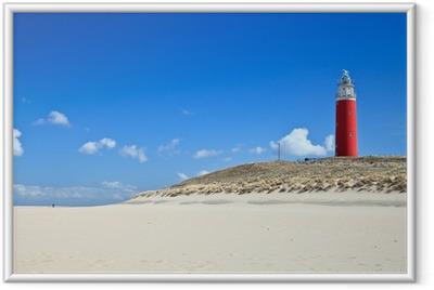 Poster en cadre Phare dans les dunes de la plage - Phare