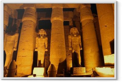 Poster i Ram Giant kolumner av forntida egyptisk stad Luksor
