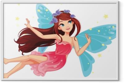 Plakát v rámu Krásná létající víla