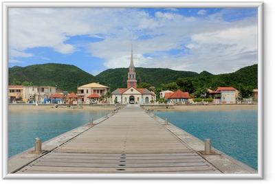 Poster en cadre Martinique Anse d'Arlet - Eau