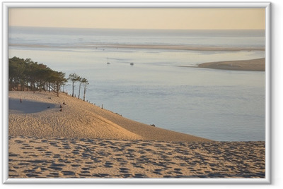 coucher de soleil sur la dune du pyla 12 Framed Poster