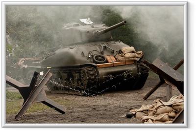 Sherman Tank – WW II Framed Poster