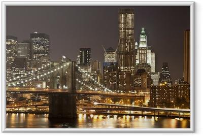Poster en cadre Brooklyn bridge -