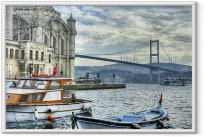 Ingelijste Poster Waar twee continenten ontmoeten: istanbul
