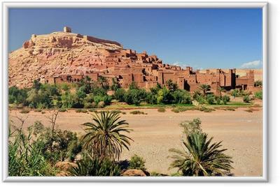Ingelijste Poster Ouarzazate Marocco città ingesteld del film Il Gladiatore