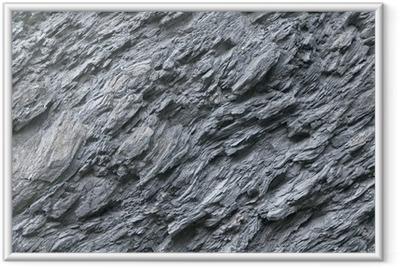 Schiefer, Naturstein, Gesteinsvorkommen, Felswand Framed Poster