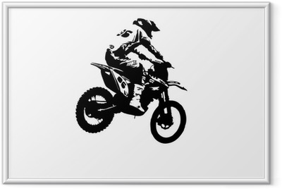Motocross jumper Framed Poster