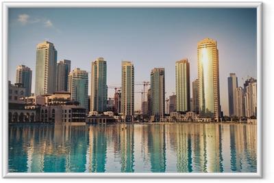 Póster com Moldura Dubaï ville