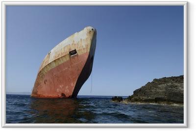 Ingelijste Poster Shipwreck