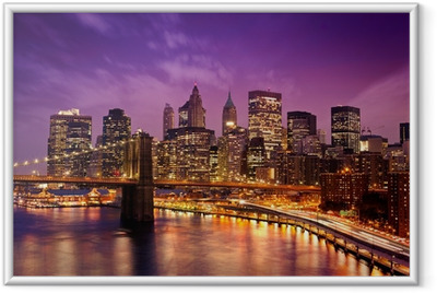 Poster i Ram New York Manhattan Pont de Brooklyn