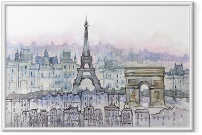 Ingelijste Poster Paris