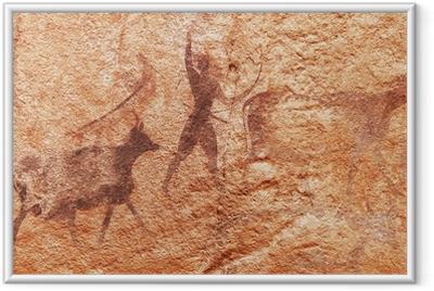 Poster en cadre Les peintures rupestres du Tassili N'Ajjer, en Algérie