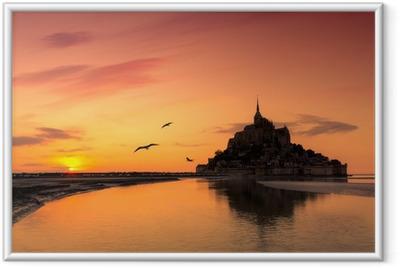 Poster en cadre Mont Saint Michel, France