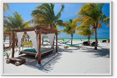 Póster Enmarcado Playa tropical perfecto