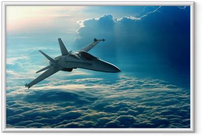 Fighter jet Framed Poster