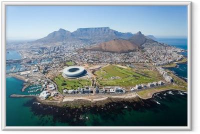 Póster Enmarcado Vista general aérea de Ciudad del Cabo, Sudáfrica