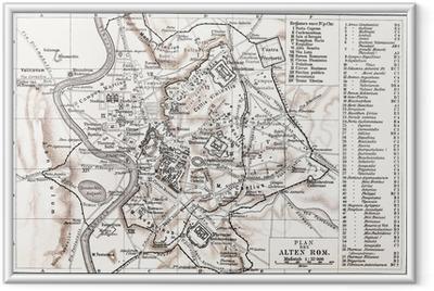 Poster i Ram Karta över antikens Rom