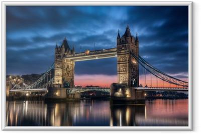 Poster in Cornice Tower Bridge Londra Inghilterra