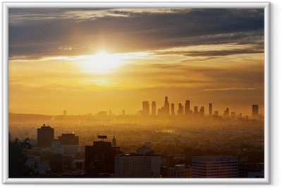 Poster in Cornice Los Angeles sunrise