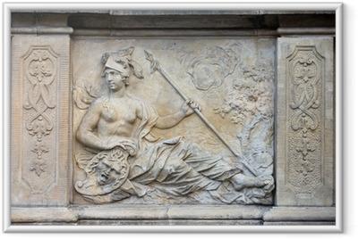 Athena Relief in Gdansk Framed Poster
