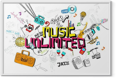 Gerahmtes Poster Music Unlimited