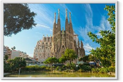 Poster en cadre La Sagrada Familia, Barcelone, Espagne.