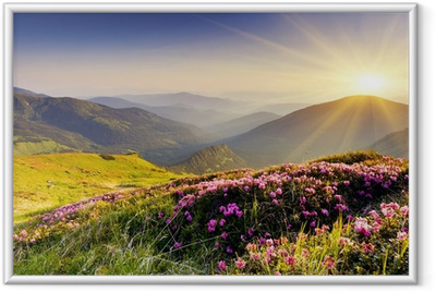 Mountain landscape Framed Poster