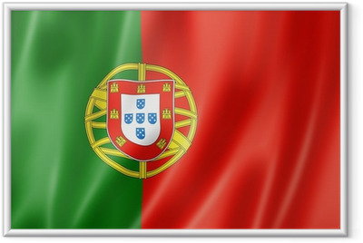 Gerahmtes Poster Portugiesische Flagge