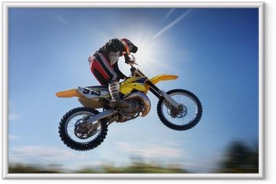 Póster com Moldura flying moto