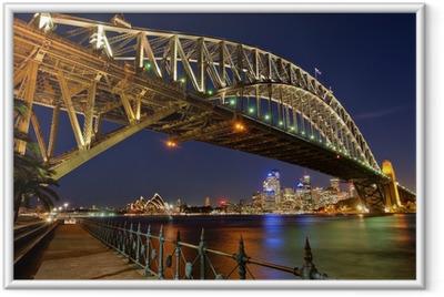 Ingelijste Poster Sydney Harbour Bridge 2