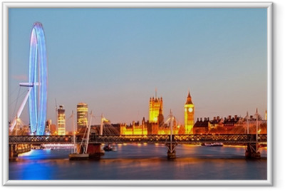 Poster en cadre London Eye Panorama