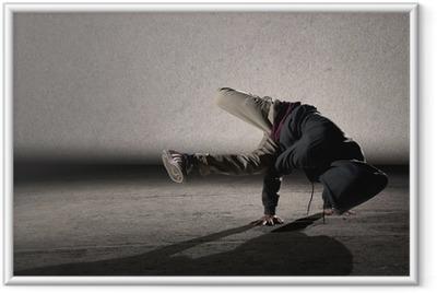 Ingelijste Poster Cool breakdancing stijl