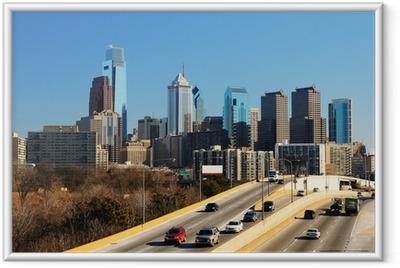 Downtown Philadelphia Framed Poster