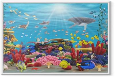 Poster en cadre Underwater paradis - Thèmes